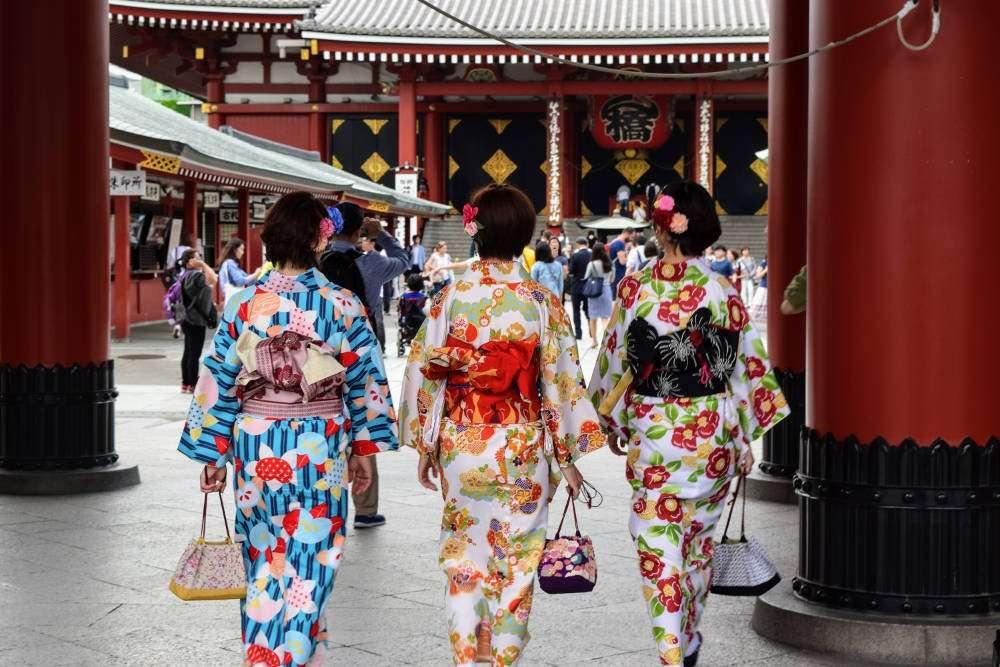 Ladies Wearing Kimono in Asakusa, Tokyo