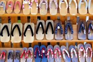 Traditional Wooden Japanese Shoes