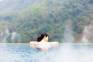 women in hot spring