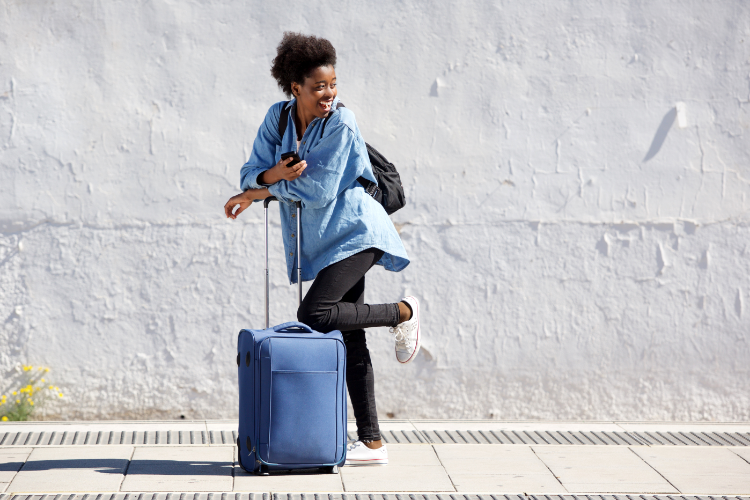 women with a suitcase
