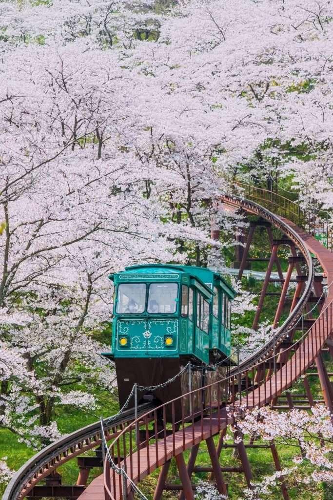 Funaoka cable car in Sendai